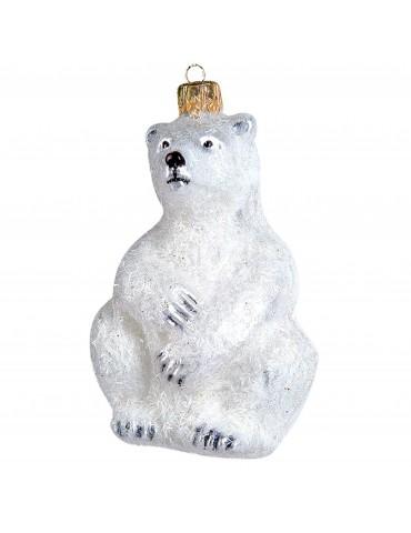 Siddende isbjørn