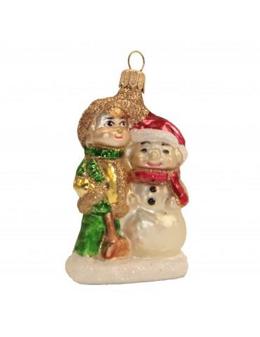 Snemand og dreng