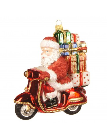 Julemand på scooter