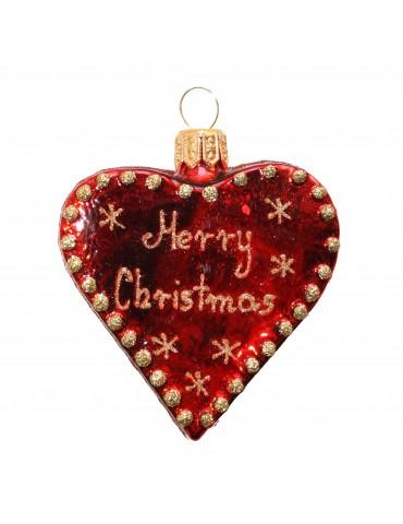 """Hjerte m/Merry Christmas"""""""