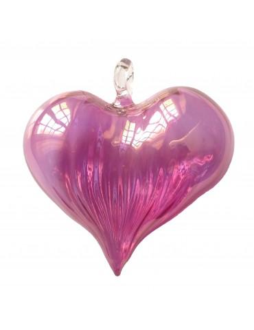 Hjerte i glas, pink
