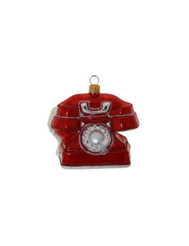 Gl. rød telefon