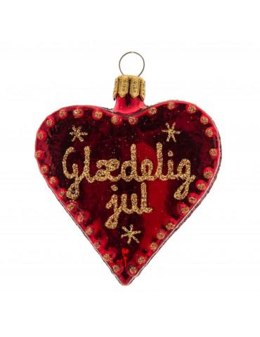 """Hjerte m/""""Glædelig jul"""""""