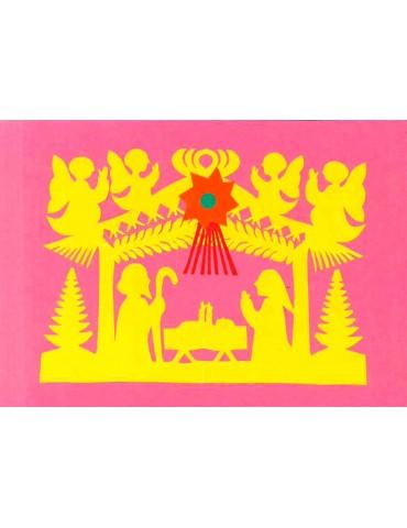 Julekort pink