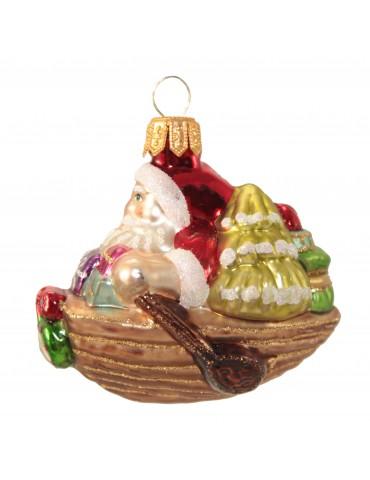 Julemand i båd