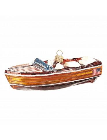 Vintage mahogni båd